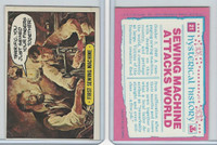 1975 Topps, Hysterical History, #21 First Sewing Machine