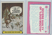 1975 Topps, Hysterical History, #24 Paul Revere Gives the Alarm