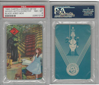 1940 Castell Card, Wizard Of Oz, #2 Wicked Witch, Dorthy, PSA 8 NMMT