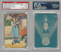 1940 Castell Card, Wizard Of Oz, #3 Dorothy, Toto, PSA 8.5 NMMT+