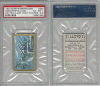 B110-7 Brinkmann, Germany High Honor, 1934, #344 Battleship, PSA 6.5 EXMT+