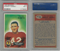 1955 Bowman Football, #16 Charlie Conerly, Giants, PSA 7 NM