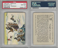 F279-4 Quaker Oats, Sergeant Preston Cards, 1956, #12 Crevasse, PSA 10 Gem