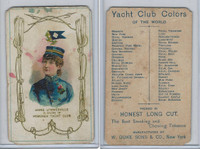 N140 Duke, Yacht Club Colors, 1890, Hoboken, Annie Sommerville