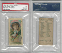 N74 Duke, Fishers and Fish, 1888, Porcupine Fish, PSA 3 MK VG