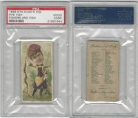 N74 Duke, Fishers and Fish, 1888, Pipe Fish, PSA 2 MK Good