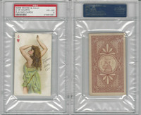 N457 Trumps Long Cut, Playing Cards, Brown Back, 1890, Hearts 4, PSA 4 VGEX