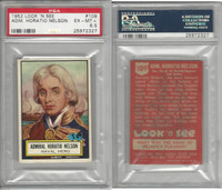 1952 Topps, Look 'N See, #109 Admiral Horatio Nelson, PSA 6.5 EXMT+
