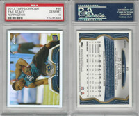 2013 Topps Chrome Refractor Football, #90 Zac Stacy, Rams, PSA 10 Gem