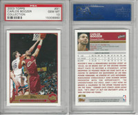 2003 Topps Collection Basketball, #91 Carlos Boozer, Cavaliers, PSA 10 Gem