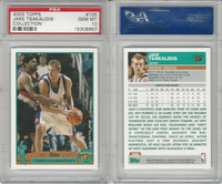 2003 Topps Collection Basketball, #105 Jake Tsakalidis, Grizzlies, PSA 10 Gem