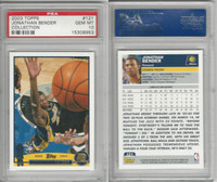 2003 Topps Collection Basketball, #121 Jonathan Bender, Pacers, PSA 10 Gem