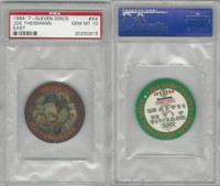 1984 7-11 Discs Football, #XX Joe Theismann, Redskins, PSA 10 Gem