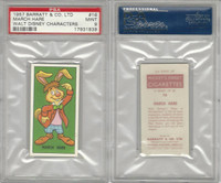 B0-0 Barratt, Walt Disney Characters, 1957, #16 March Hare, PSA 9 Mint