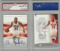 2004 SP Authentic Basketball, #150 Chris Duhon AUTO, Bulls, PSA 10 Gem