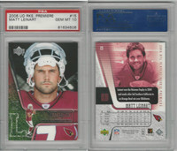 2006 Upper Deck Premiere Football, #15 Matt Leinart RC, Cardinals, PSA 10 Gem