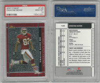 2007 Topps Finest Football, #128 Dwayne Bowe, Chiefs, PSA 10 Gem