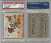 R172 Gum Inc, Wild West Series, Series A, 1937 #18 Bulldogging, PSA 4 VGEX
