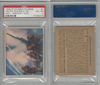 R173 Gum Inc, The World In Arms, 1939, #1 United States 3-In., PSA 4 VGEX