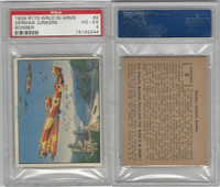 R173 Gum Inc, The World In Arms, 1939, #2 German Junkers, PSA 4 VGEX