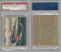 R173 Gum Inc, The World In Arms, 1939, #12 Italian M.A.S. Boat, PSA 4 VGEX
