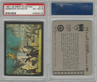 1961 Rosan W528-2, The U.S. Army In Action, #13 Amer. Patriots, PSA 6 EXMT