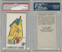 D64 Bakeries, Pinocchio Circus, 1939, Geppetto's Home, PSA 9 Mint