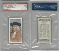 O2-156 Ogden, Leaders of Men, 1924, #36 William Penn, PSA 7 NM