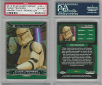 2015 Topps, Star Wars Chrome Perspectives, #23J Clone Troopers, PSA 10 Gem