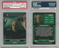 2015 Topps, Star Wars Chrome Perspectives, #29J Count Dooku, PSA 10 Gem