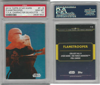 2015 Topps, Star Wars Chrome Perspectives, #F8 Flametrooper, PSA 10 Gem