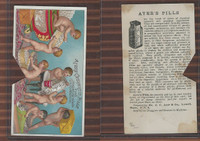 Victorian Card, 1890's, Ayer's Medicine, Lowell, Mass., Boys Packing Pills