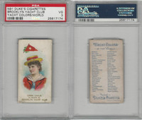 N91 Duke, Yacht Colors of the World, 1889, Brooklyn Yacht Club, PSA 3 VG