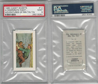 C0-0 Cadet Sweets, Adventures Rin Tin Tin, 1960, #12, PSA 9 Mint