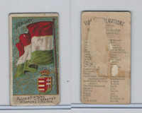 N10 Allen & Ginter, Flags of all Nations, 1890, Hungary