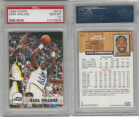 1993 Skybox Hoops Basketball, #218 Karl Malone, Utah Jazz, PSA 10 Gem