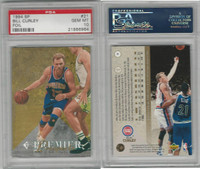 1994 Upper Deck SP Foil Basketball, #21 Bill Curley, Pistons, PSA 10 Gem