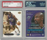 1999 Upper Deck Ovation Basketball, #55 Karl Malone, Jazz, PSA 10 Gem