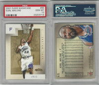 2001 Fleer Showcase Basketball, #65 Karl Malone, Jazz, PSA 10 Gem
