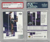 2002 Upper Deck Champ. Basketball, #94 Karl Malone, Jazz, PSA 10 Gem