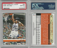 2006 Topps Full Court Basketball, #84 Karl Malone, Jazz, PSA 10 Gem