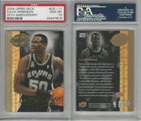 2008 Upper Deck 20th Basketball, #UD-11 David Robinson, Spurs, PSA 10 Gem