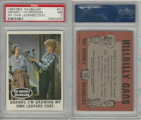 1963 Topps, Beverly Hillbillies, #10 Granny, I'm Growing My, PSA 7 NM