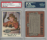 1963 Topps, Beverly Hillbillies, #18 I Gave Him A Bath and He, PSA 7 NM