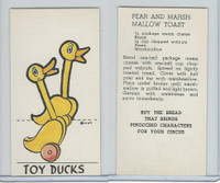D64 Bakeries, Pinocchio Circus, 1939, Toy Ducks