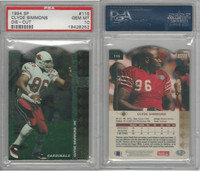 1994 Upper Deck SP Die-Cut Football, #115 Clyde Simmons, Cardinals, PSA 10 Gem