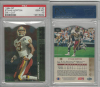 1994 Upper Deck SP Die-Cut Football, #137 Ethan Horton, Redskins, PSA 10 Gem