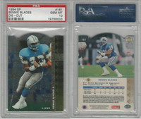 1994 Upper Deck SP Die-Cut Football, #161 Bennie Blades, Lions, PSA 10 Gem