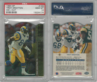 1994 Upper Deck SP Die-Cut Football, #189 Troy Drayton, Rams, PSA 10 Gem