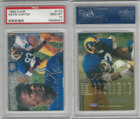 1995 Fleer Flair Football, #173 Kevin Carter, Rams, PSA 10 Gem